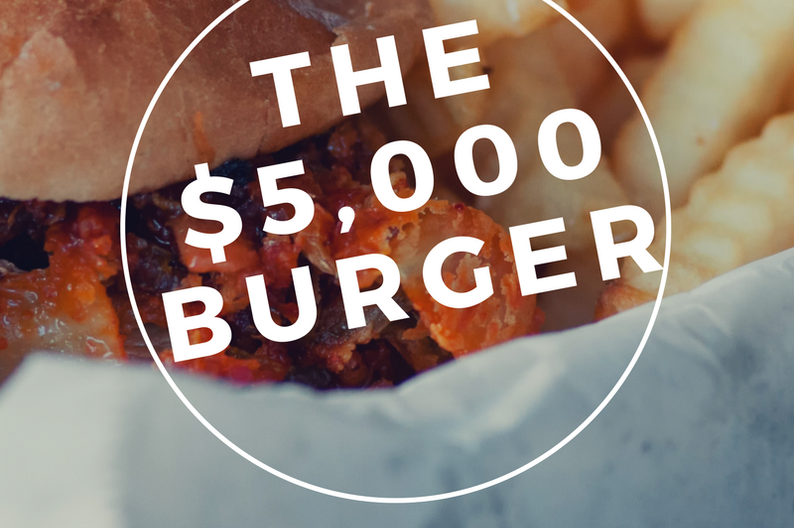 The FleurBurger 5000 will set you back $5,000
