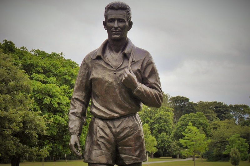 Brian Clough's statue in Albert Park, not far from Damian's office at Careys